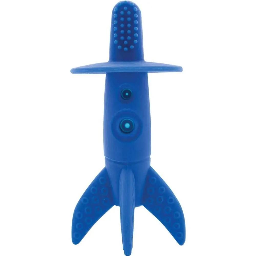 Massageador de Gengivas Foguete Azul - Buba Baby