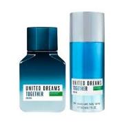 Kit United Dreams Together for Him Benetton - Eau de Toilette 100ml + Body Spray 150ml