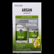 Kit Argan Infusion Liso e Sedoso Inoar - Shampoo + Condicionador