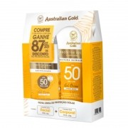Kit Australian Gold Protetor Solar Corporal FPS50 200g + Facial FPS50 50g - Kit de Protetor Solar