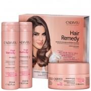 Kit Hair Remedy Trio Cadiveu Professional - Shampoo + Condicionador + Máscara