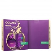 Kit Colors Purple Deo Benetton Feminino - Eau de Toilette 80ml + Loção Corporal 150ml