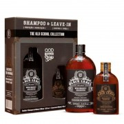 Kit QOD Barber Shop Old School Whiskey Shampoo 290ml + Leave-In 145ml