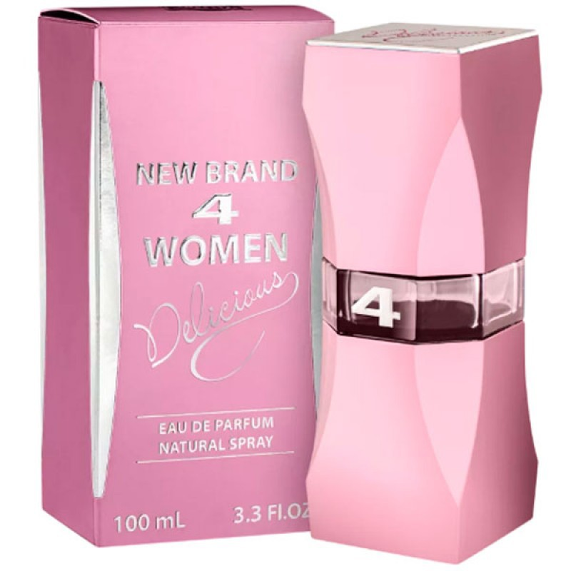 4 Women Delicious Eau de Parfum New Brand - Perfume Feminino 100ml