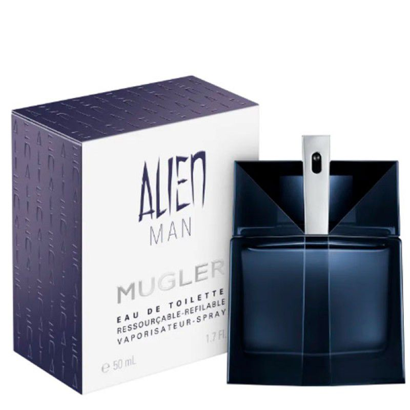 Alien Man Refillable Eau de Toilette  Mugler - Perfume Masculino 50ml