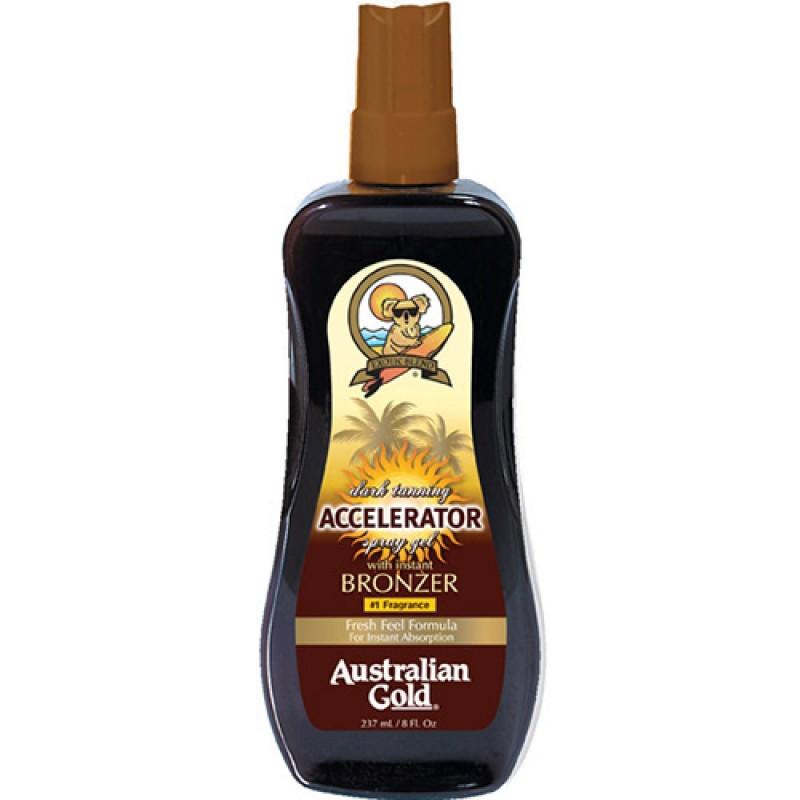 Australian Gold Dark Tanning Instant Bronzer Spray Gel - Accelador 237ml