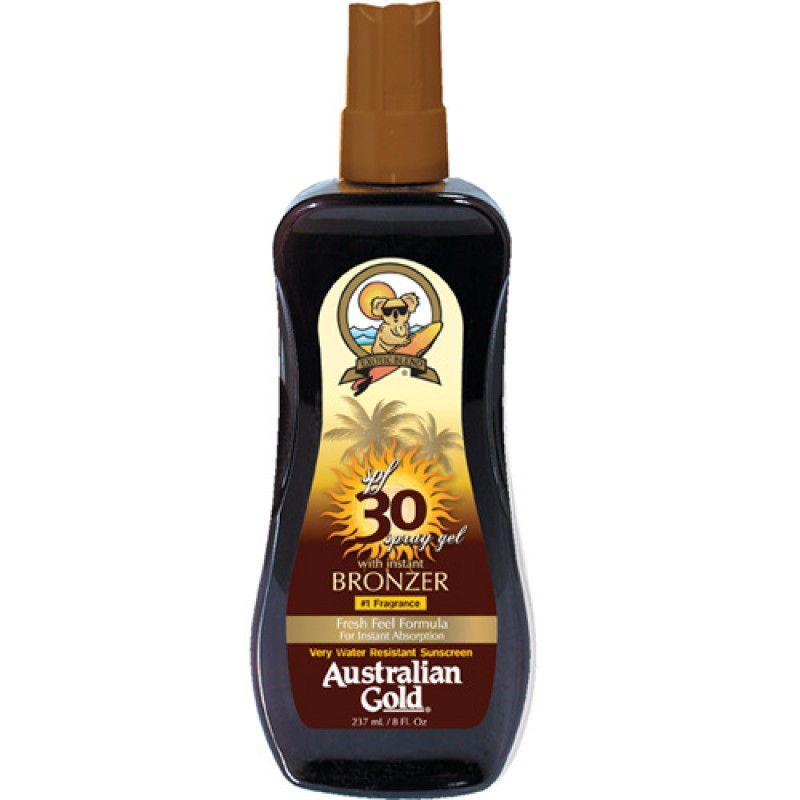 Instant Bronzer FPS 30 Spray Gel Australian Gold - Protetor Solar 237ml