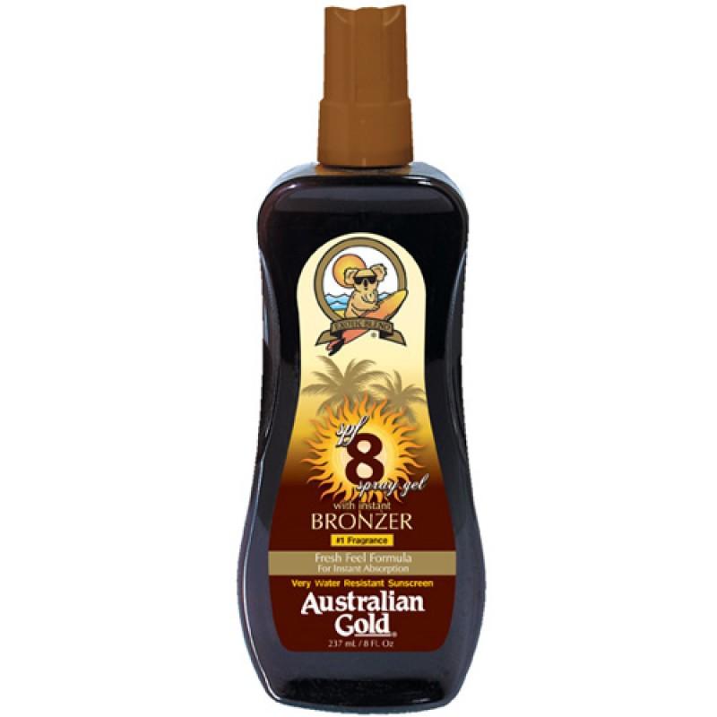 Australian Gold Intant Bronzer FPS 8 Spray Gel - Bronzeador 237ml