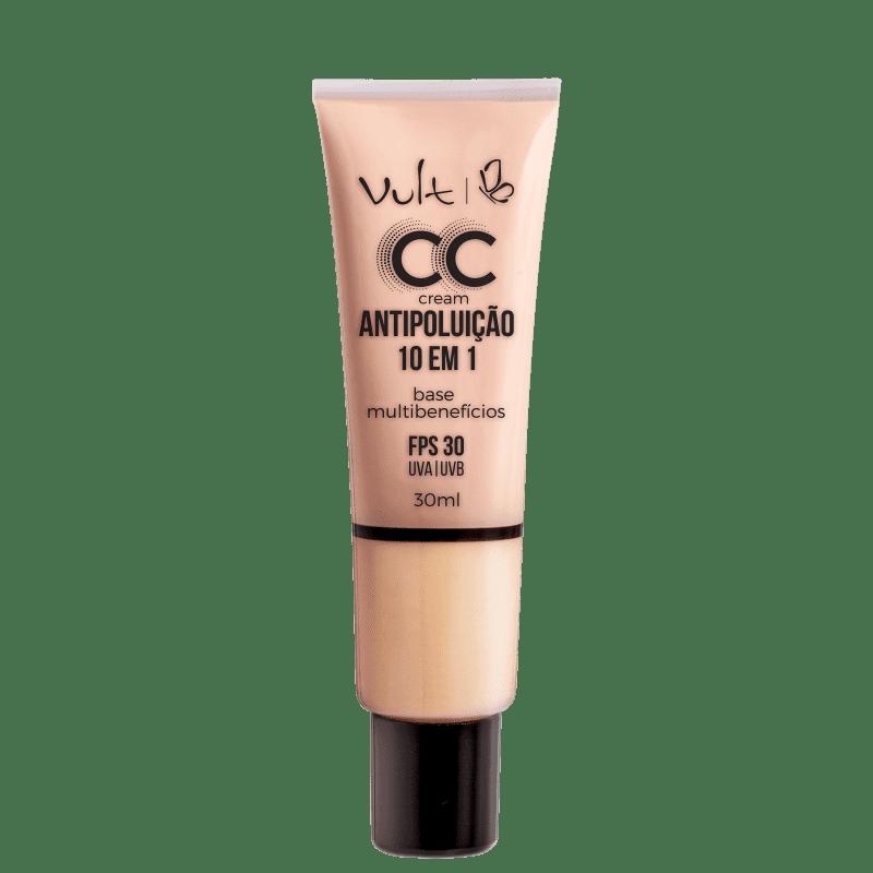 CC Cream Antipoluição 10 em 1 Vult -  Base Facial 30ml