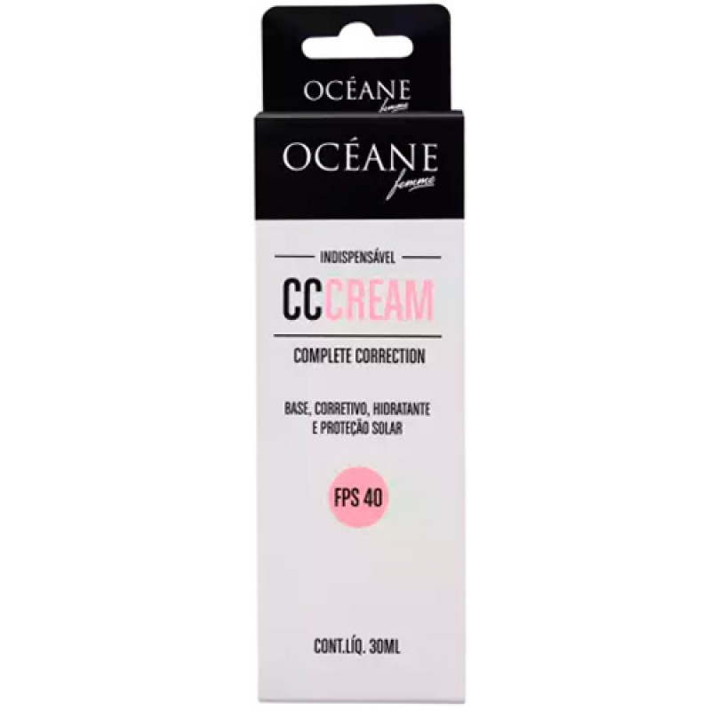 CC CREAM Base Corretivo Hidratante e Protetor Solar Ocean Femme