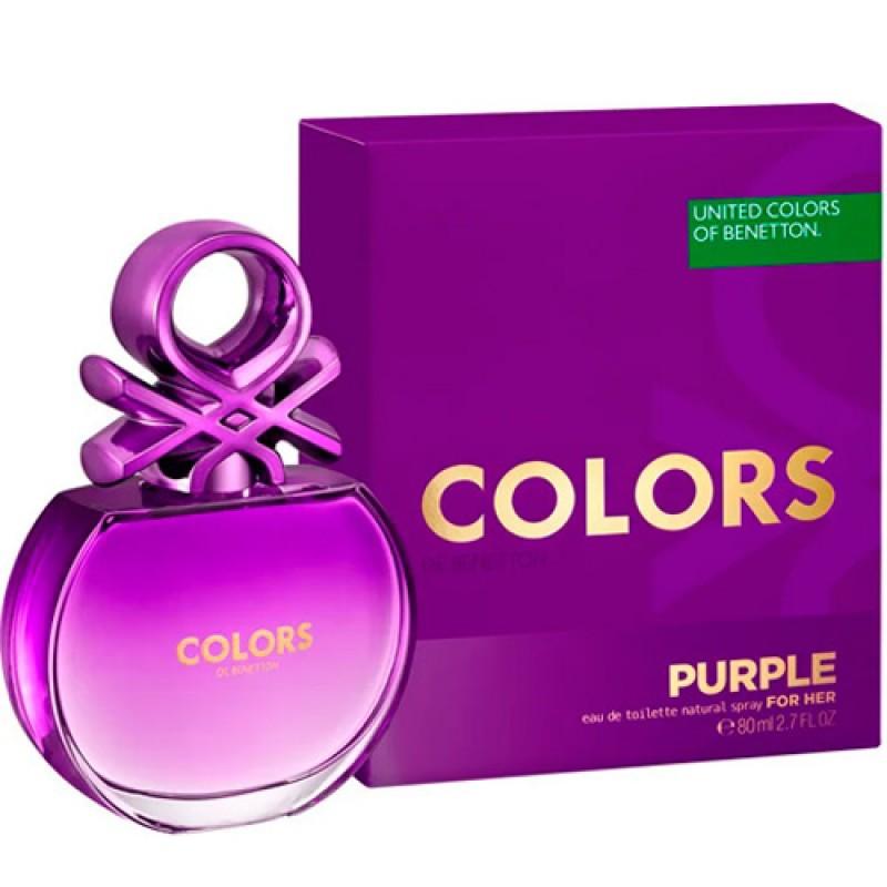 Colors Purple Benetton Eau de Toilette - Perfume Feminino 50ml
