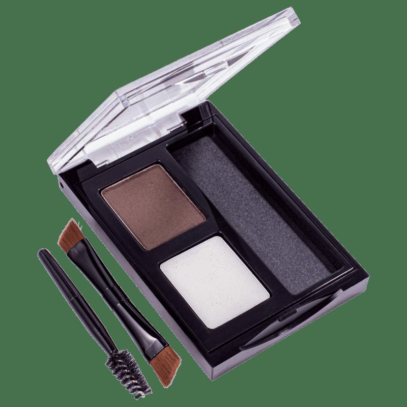 ColorStay Brow Kit 102 Dark Brown Revlon - Paleta de Sombra para Sobrancelha