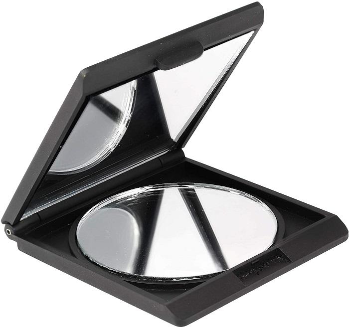 Espelho Compacto Quadrado 1X e 2X QVS