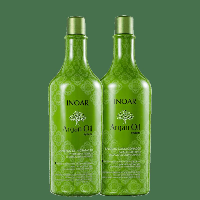Kit Argan Oil Hidratação Inoar - Shampo + Condicionador