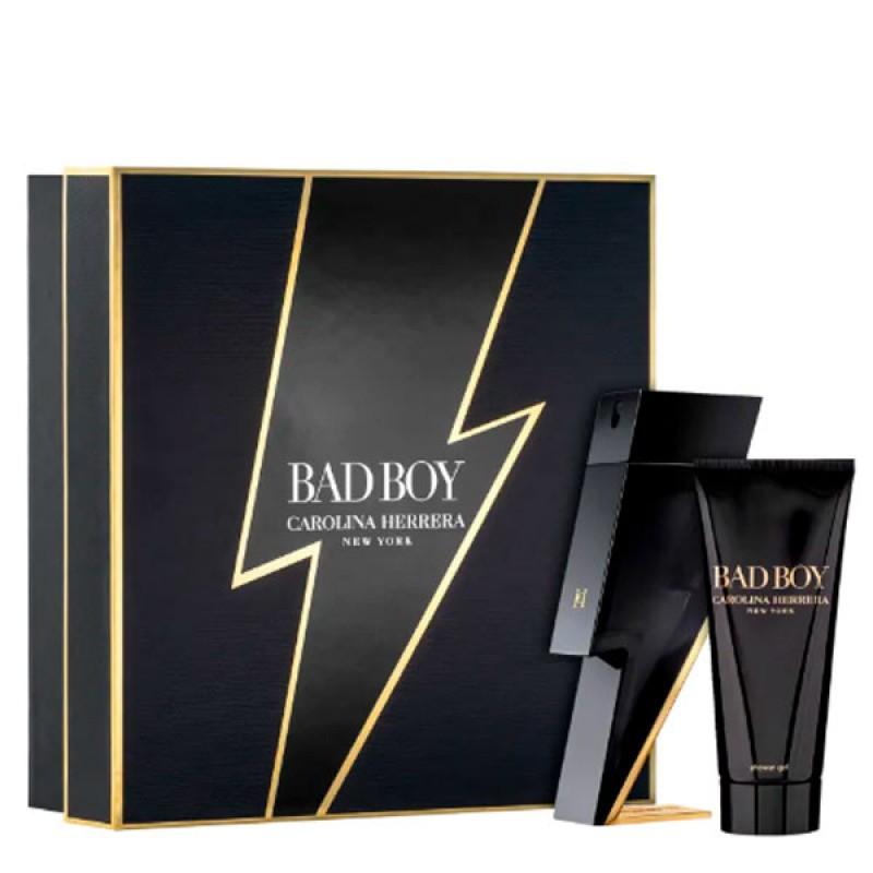 kit Carolina Herrera Bad Boy Perfume Eau de Toilette 100ml + Gel de Banho 100ml