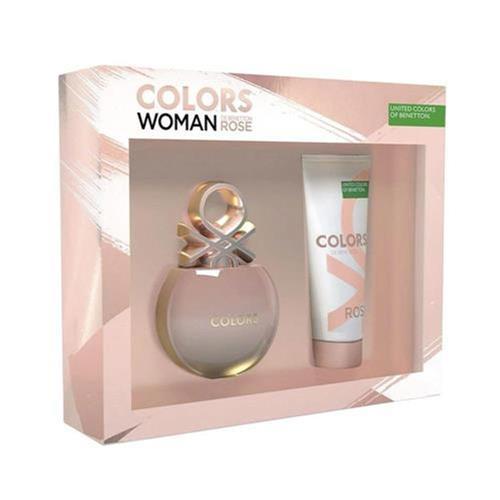Kit Colors Woman Rose Benetton - Eau de Toilette 80ml + Loção Corporal 75ml