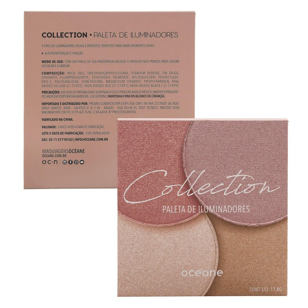 Kit com 1 Paleta de Iluminador 17,8g Océane Collection + 1 Gloss Líquido Matte 4ml Boca Rosa