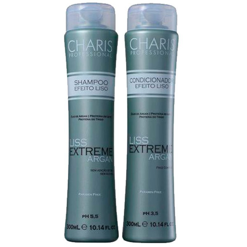 Kit Duo Charis Liss Extreme Argan - Shampo 300ml e Condicionador 300ml
