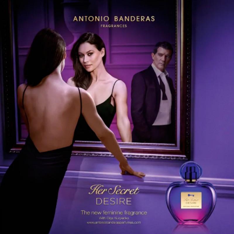 Kit Her Secret Desire Antonio Banderas Eau de Toilette - Perfume Feminino 80ml + Deo 150ml