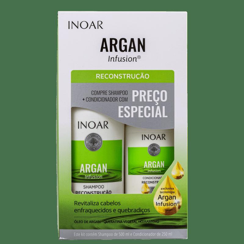 Kit Inoar Argan Infusion Reconstrução - Shampoo + Condicionador