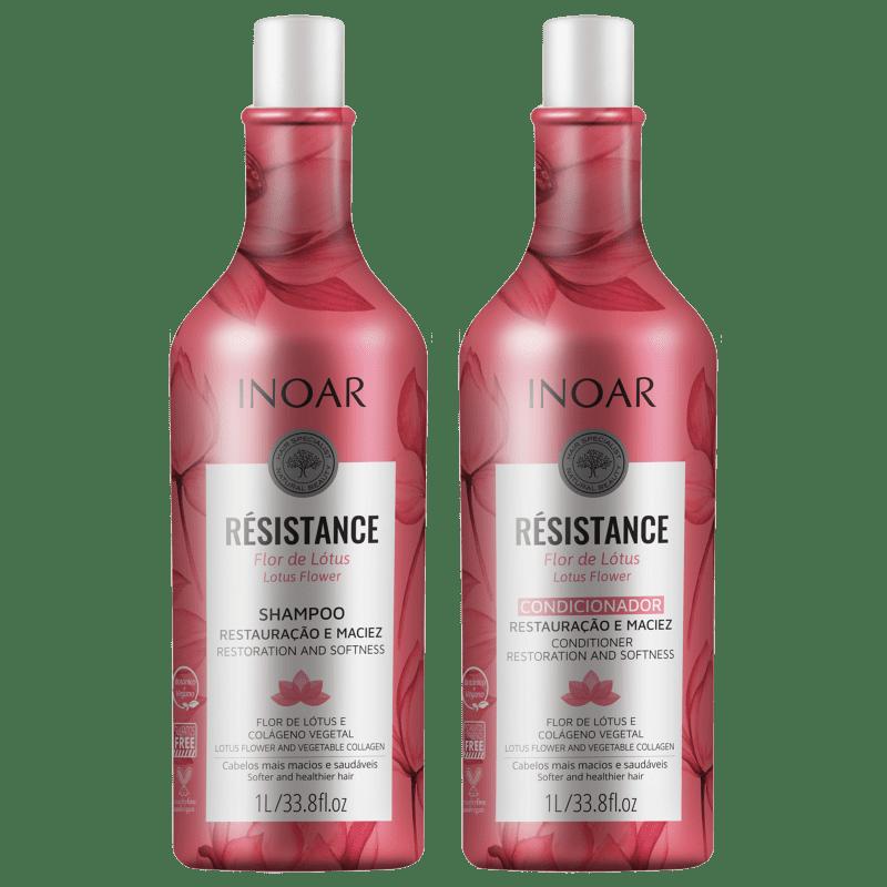 Kit Résistance Flor de Lótus Inoar - Shampoo + Condicionador 1 Litro