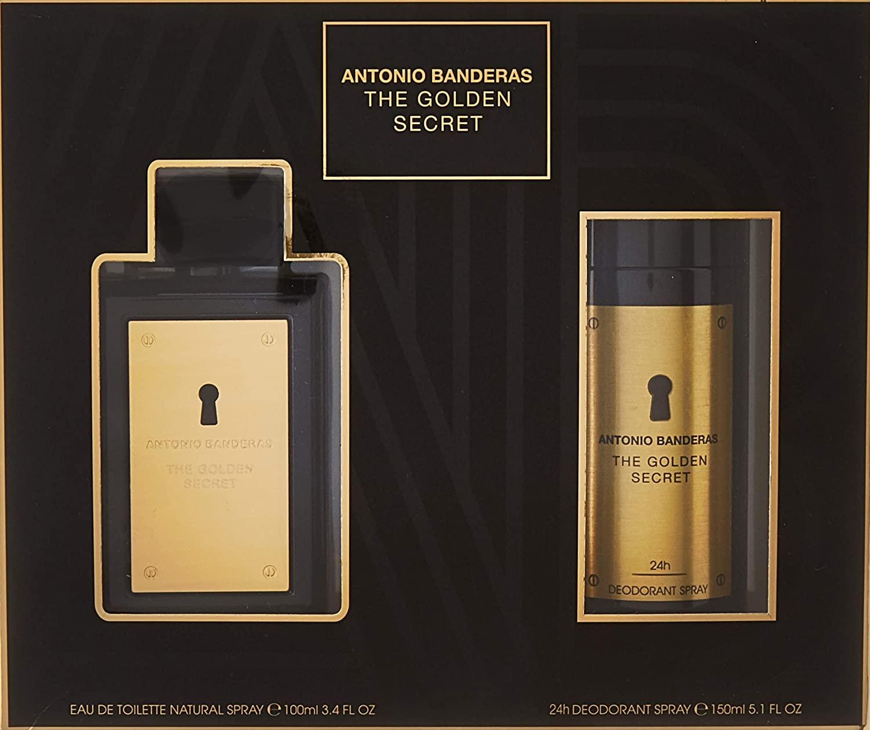 Kit The Golden Secret Antonio Banderas Eau de Toilette - Perfume Masculino 100ml + Deo 150ml