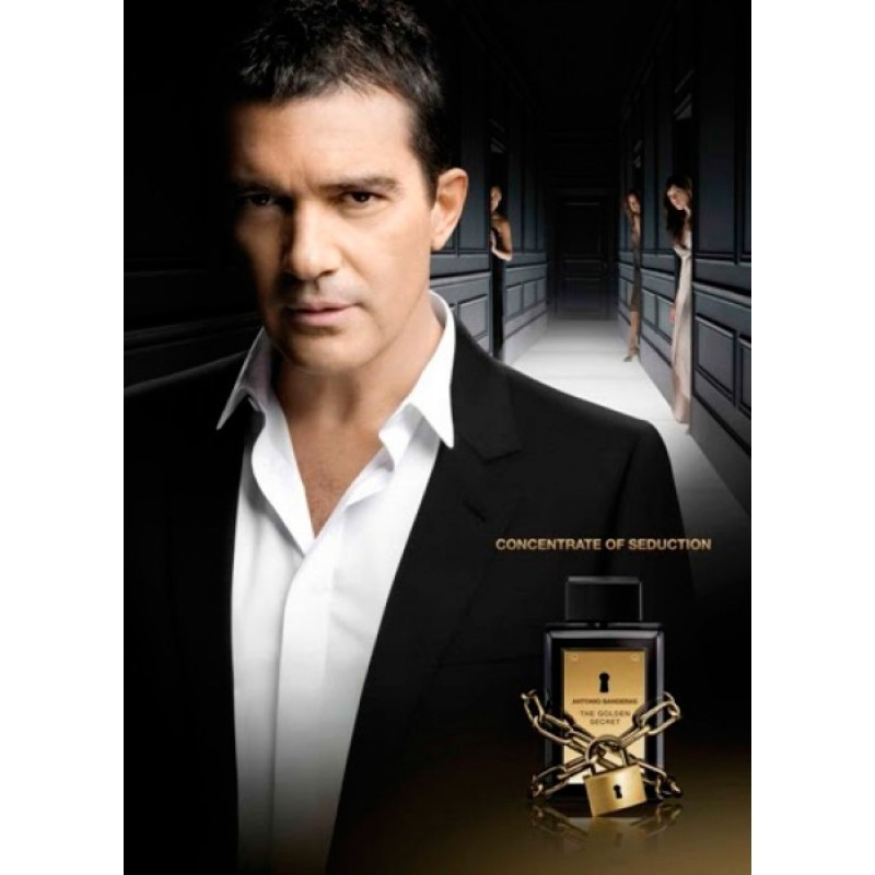 Kit The Golden Secret Antonio Banderas Eau de Toilette - Perfume Masculino 100ml + Deo 150ml