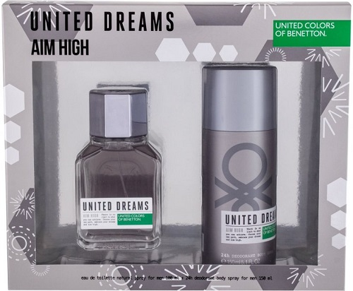 Kit United Dreams Aim High Benetton - Eau de Toilette 100ml + Desodorante 150ml