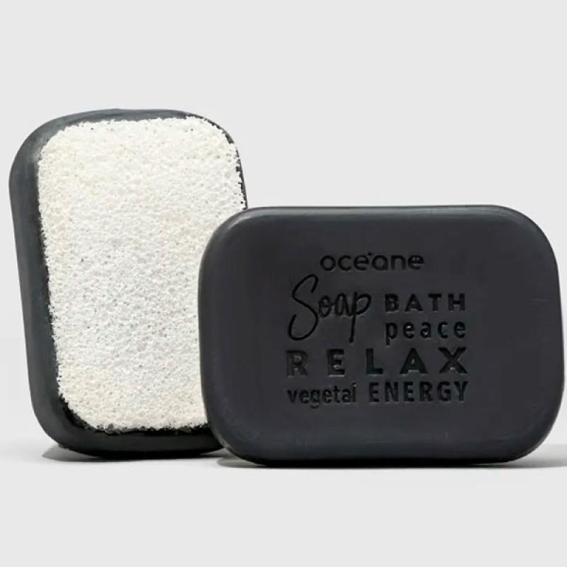 Oceane Charcoal Soap Sponge - Sabonete Vegetal de Carvão com Esponja 120g