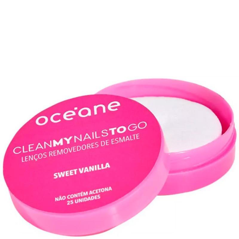 Océane Clean My Nails To Go Sweet Vanilla - Lenço Removedor de Esmalte  - 25 unidades