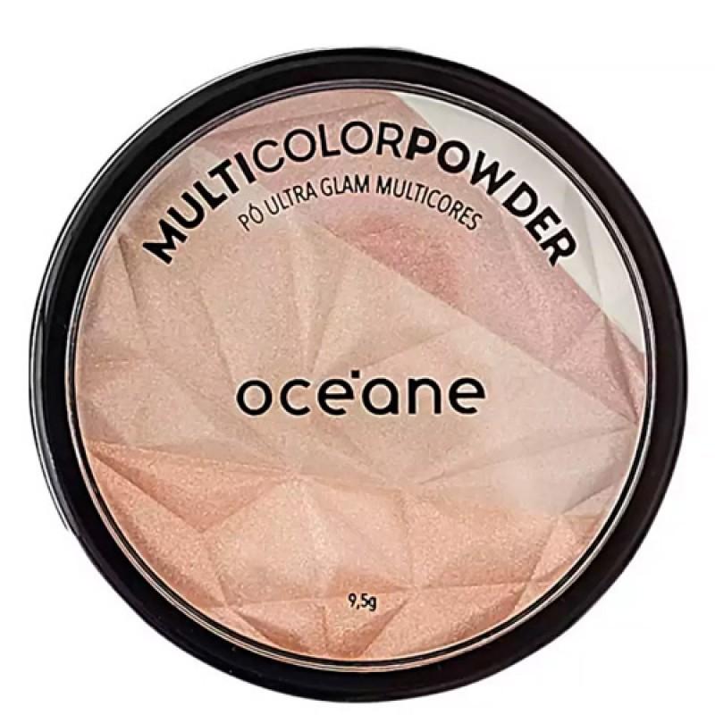 Océane Multicolor Powder Ultra Glam - Pó 3 em 1 9,5g