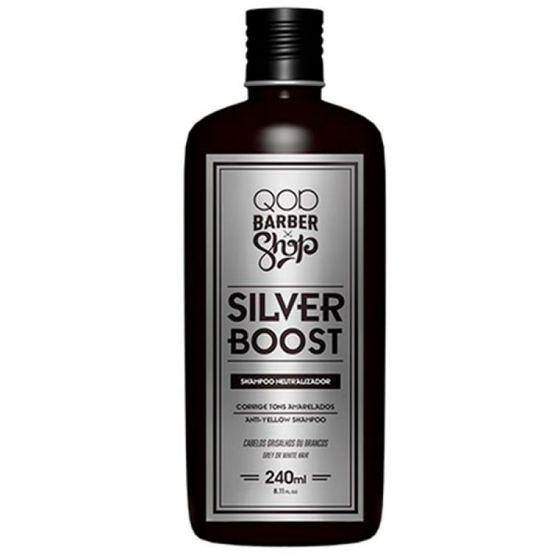 QOD Barber Shop Silver Boost - Shampoo 240ml