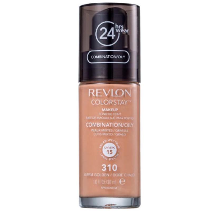 Revlon ColorStay 24 Horas Pele Mista à Oleosa FPS15 310 Warm Golden - Base Líquida 30ml