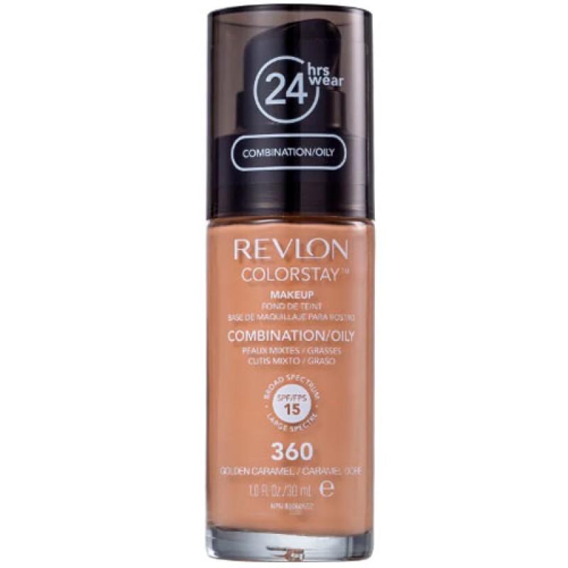 Revlon ColorStay 24 Horas Pele Mista à Oleosa FPS15 360 Golden Caramel - Base Líquida 30ml