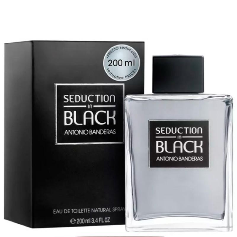 Seduction in Black Antonio Banderas Eau de Toilette - Perfume Masculino 200ml