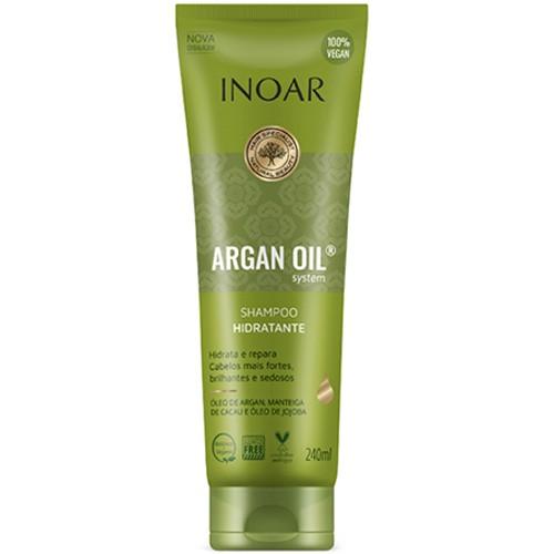 Shampoo Hidratante Inoar Argan Oil System - 240ml