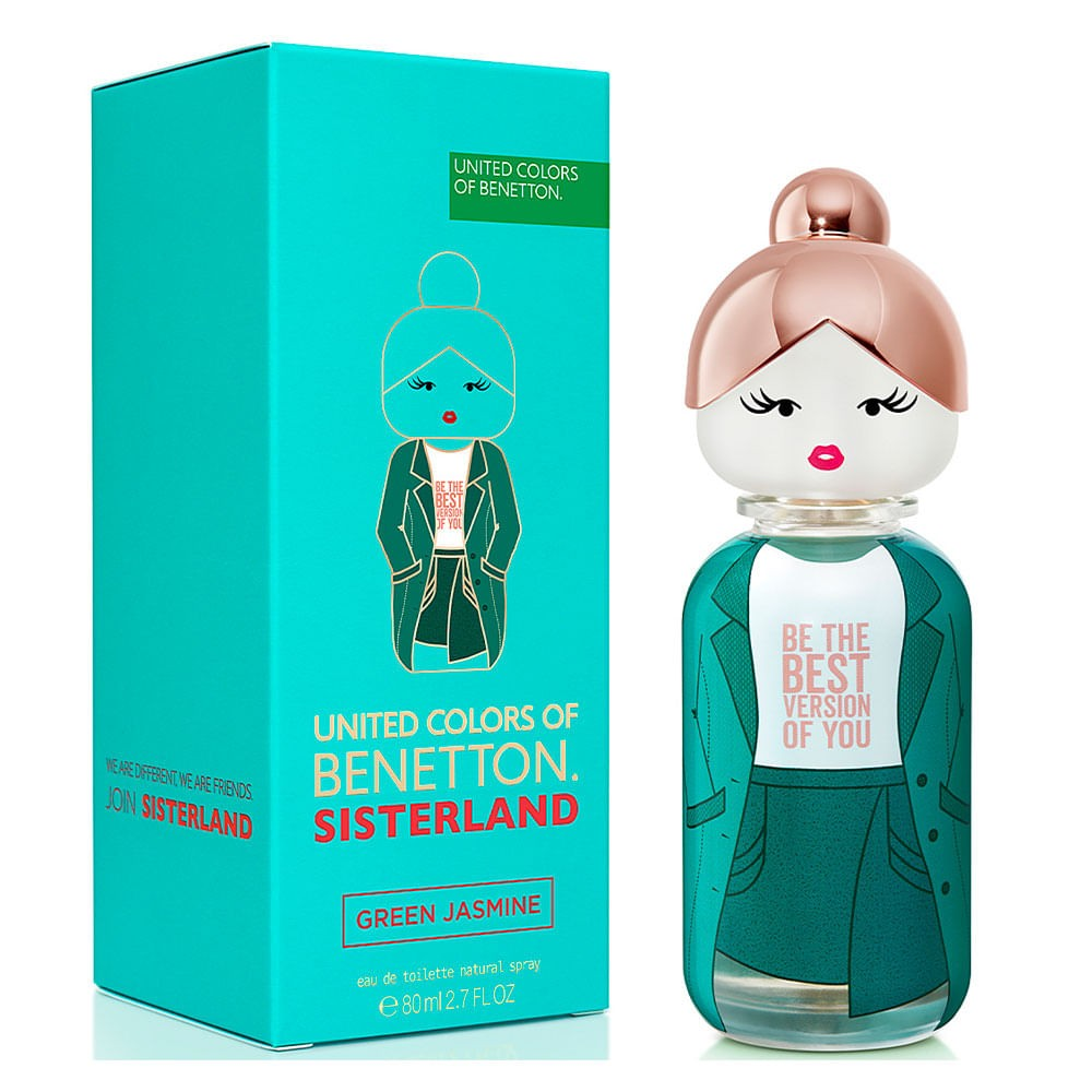 Sisterland Green Jasmine Eau de Toilette United Colors of Benetton - Perfume Feminino 80ml