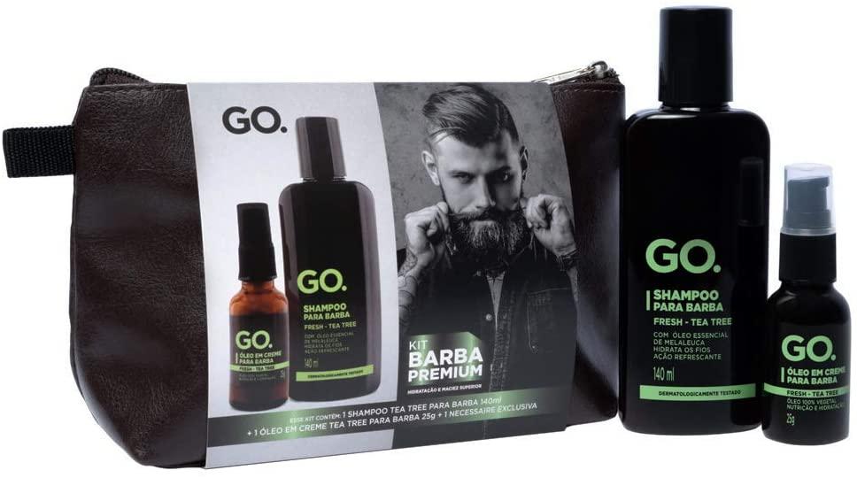 Tea Tree Kit GO. Man - Shampoo para Barba + Óleo para Barba + Necessáire