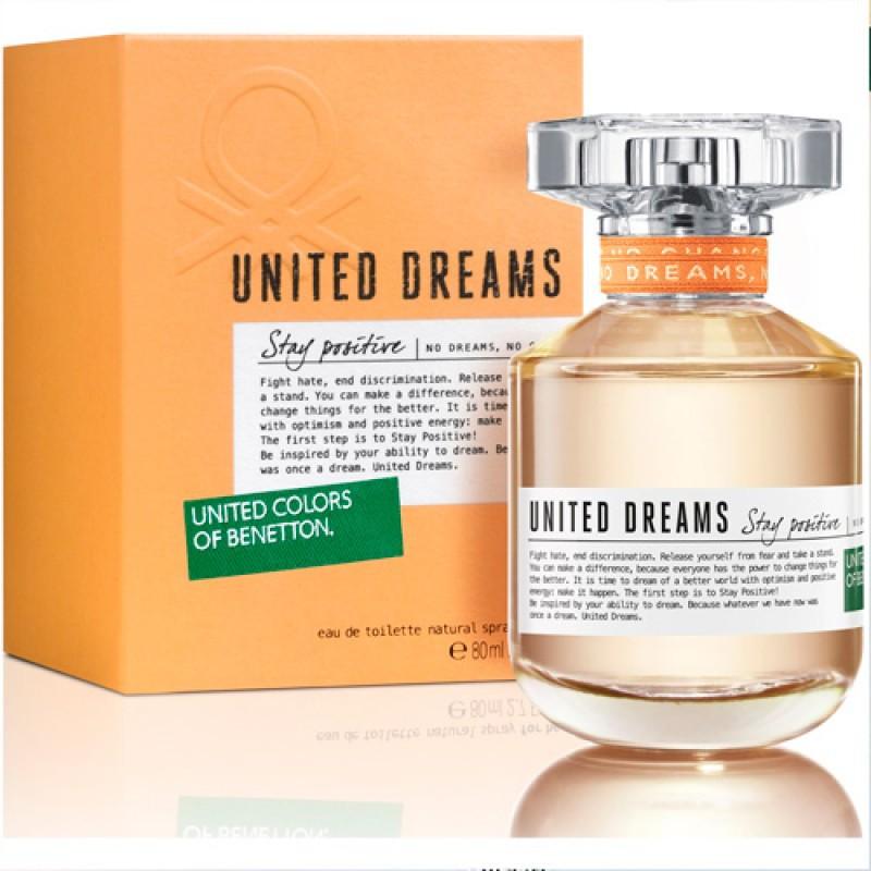United Dreams Stay Positive Benetton Eau de Toilette - Perfume Feminino 50ml