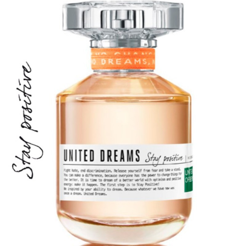 United Dreams Stay Positive Benetton Eau de Toilette - Perfume Feminino 80ml