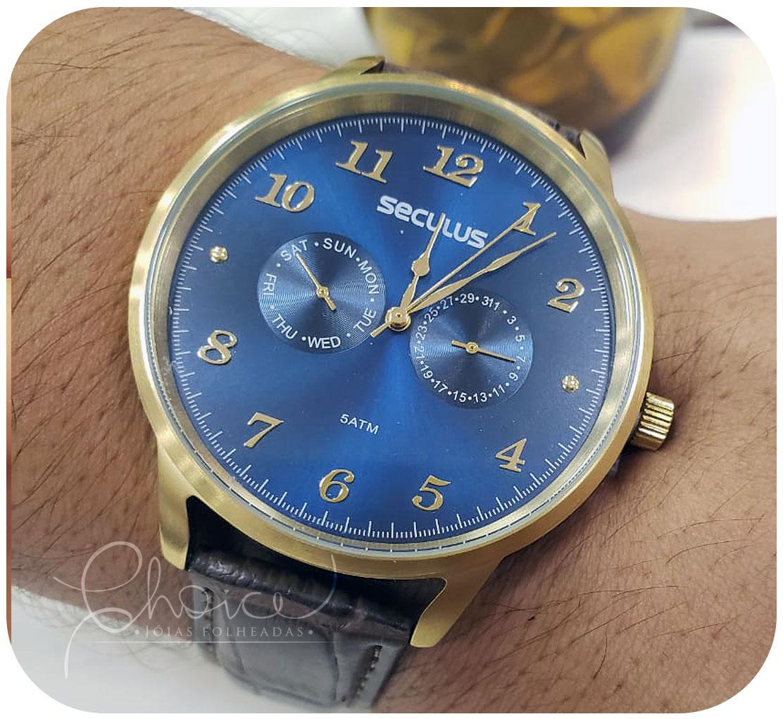 Relógio Seculus 20768GPSVDC1