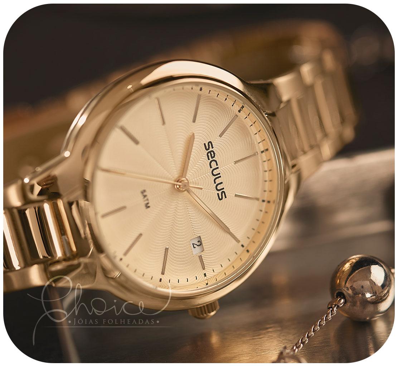 Relógio Seculus 77051LPSVDS1