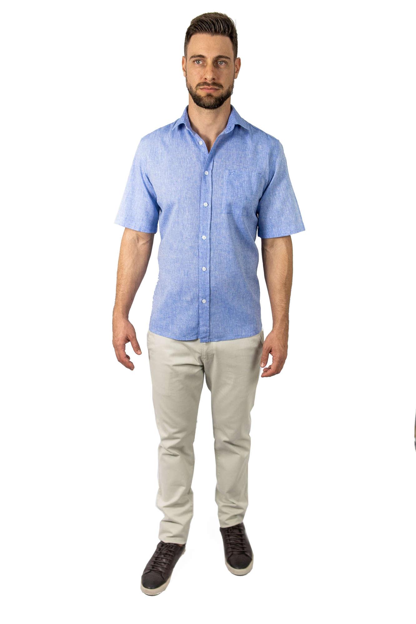 Camisa Manga Curta Comfort Fit Linho