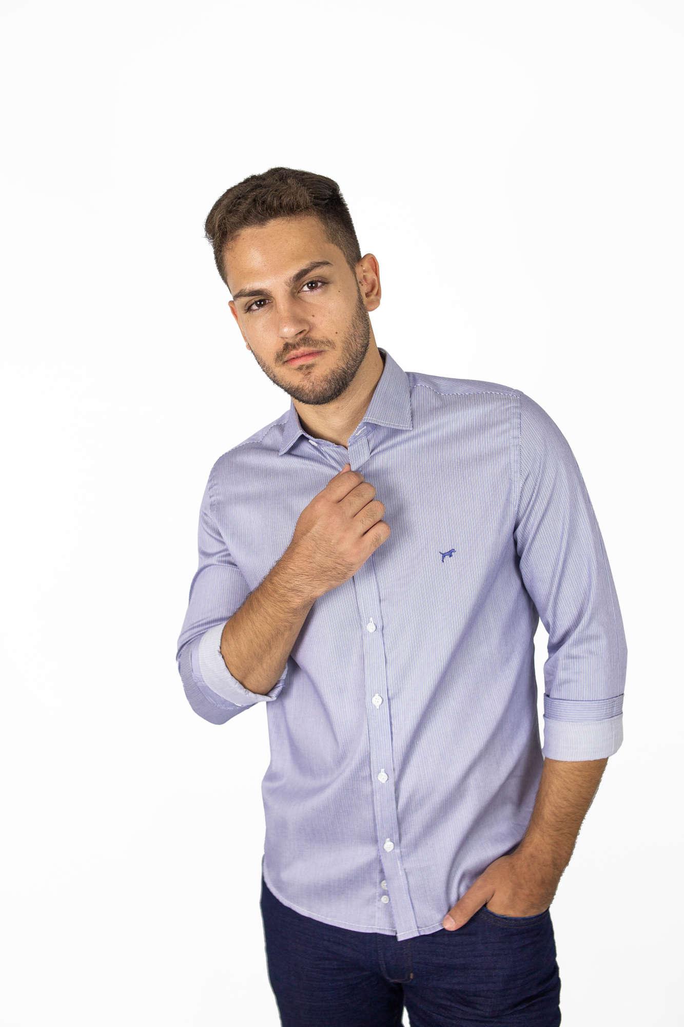 Camisa Slim Fit Listrada