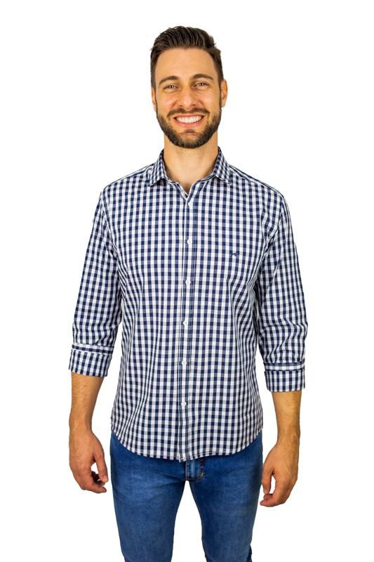 Camisa Slim Fit M/L Xadrez