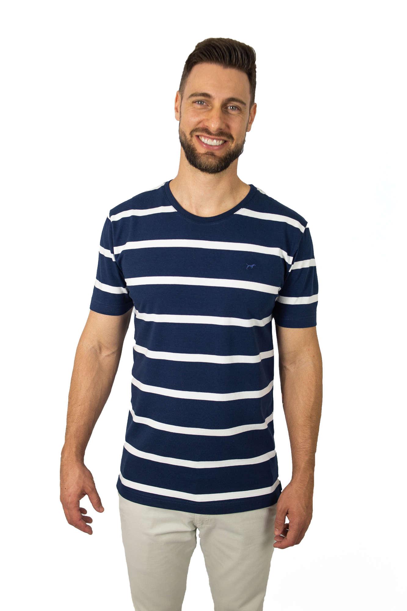 Camiseta Careca Listrada