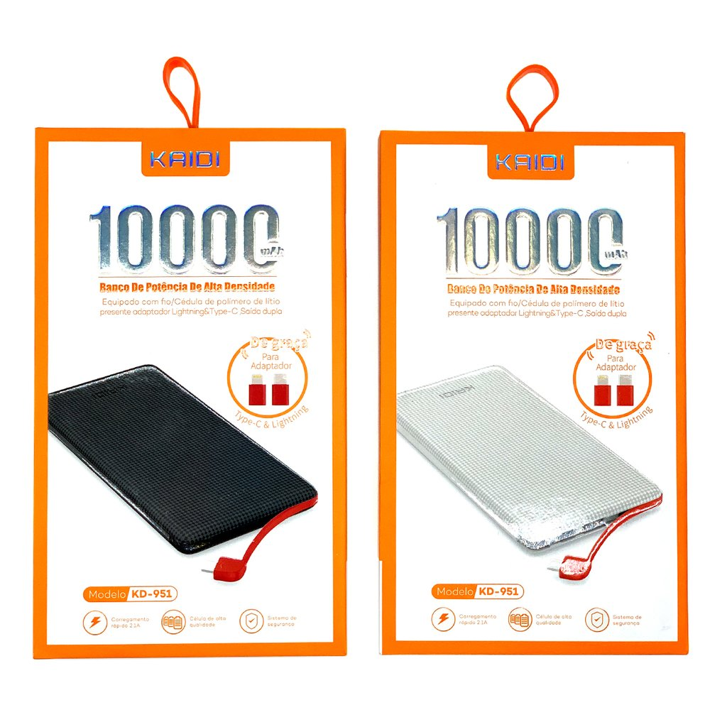 Bateria Externa 10.000mha Kaidi KD-951