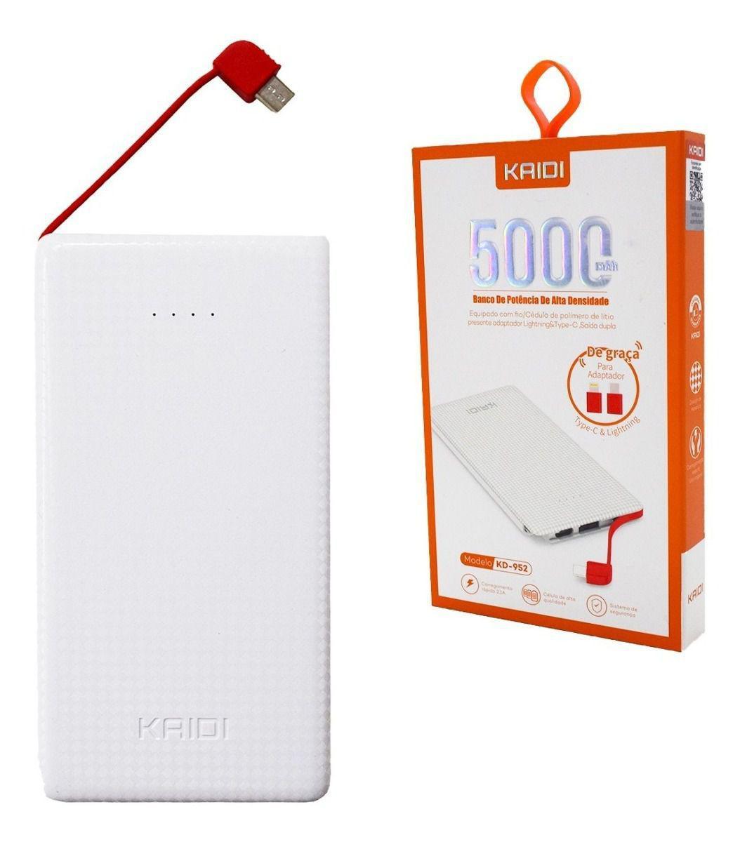 Bateria Externa 5.000mha Kaidi KD-952