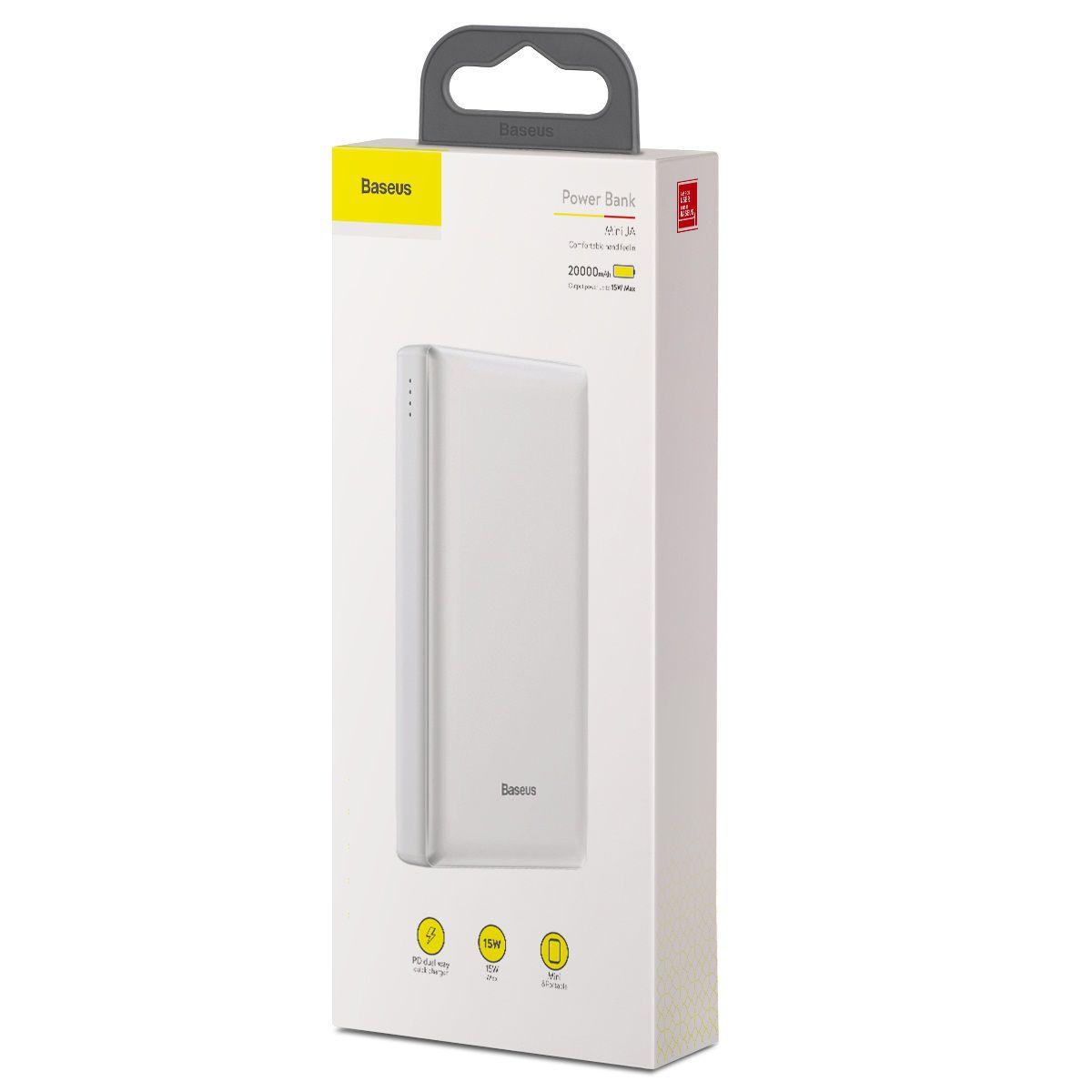 Bateria Externa Baseus 20.000mha 15w Pd Quick Charger