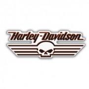 Adesivo Resinado Harley-Davidson Skull - 13x5 cm -STHD0061RP